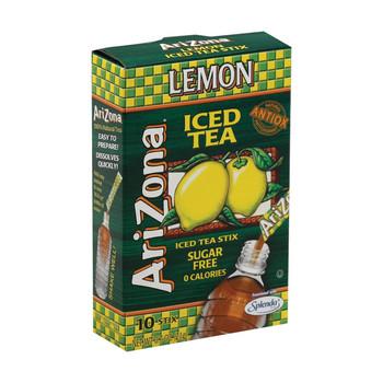 Arizona Tea Sugar Free Lemon Stick Tea Powder - Case of 12 - 10 count