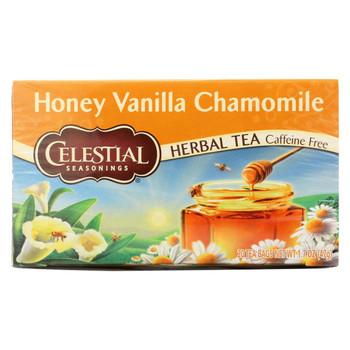 Celestial Seasonings Herbal Tea Caffeine Free Honey Vanilla Chamomile - 20 Tea Bags - Case of 6