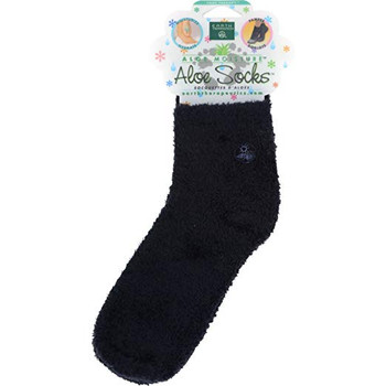 Earth Therapeutics Moisturizing Aloe Socks Black - 1 Pair