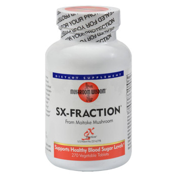 Mushroom Wisdom SX- fraction - 270 Vegetable Tablets