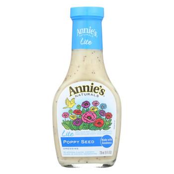 Annie's Naturals Lite Dressing Poppy Seed - Case of 6 - 8 fl oz.