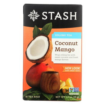 Stash Tea Oolong Tea - Coconut Mango - Case of 6 - 18 Bags
