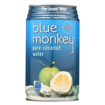 Blue Monkey Coconut Water - Natural - Case of 24 - 11.2 oz.