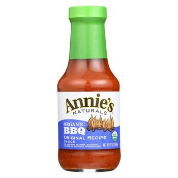 Annie's Naturals Organic BBQ Original Recipe Sauce - Case of 12 - 12 oz.