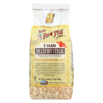 Bob's Red Mill - 5 Grain Rolled Hot Cereal - 16 oz - Case of 4