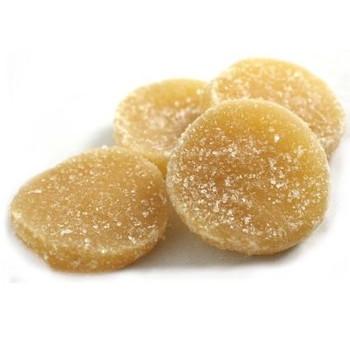 Bulk Dried Fruit - Organic Crystallized Ginger Medallions - Case of 11 - 1 lb.