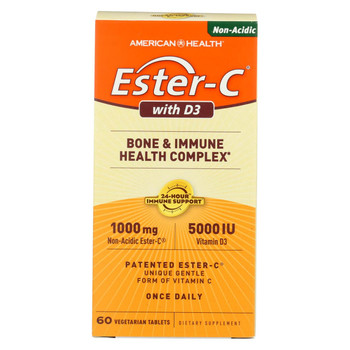 American Health - Ester-C with D3 Bone and Immune Health Complex - 60 Tablets