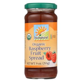 Bionaturae Fruit Spread - Raspberry - Case of 12 - 9 oz.