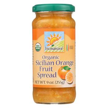 Bionaturae Fruit Spread - Sicilian Orange - Case of 12 - 9 oz.