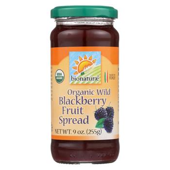Bionaturae Fruit Spread - Blackberry - Case of 12 - 9 oz.