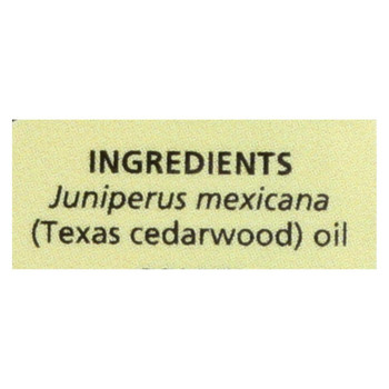 Aura Cacia - Essential Oil - Cedarwood Texas - .5 oz