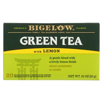Bigelow Tea Green Tea - with Lemon - Case of 6 - 20 BAG