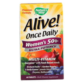 Nature's Way - Alive! Once Daily Women's Multi-Vitamin Gummies - 50 Plus - 60 Tablets