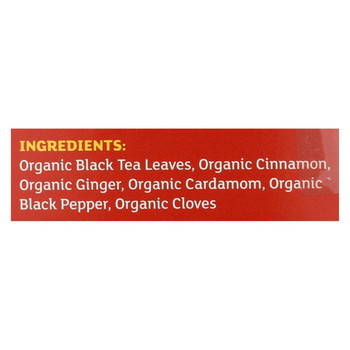 Equal Exchange Organic Chai Tea - Chai Tea - Case of 6 - 20 Bags