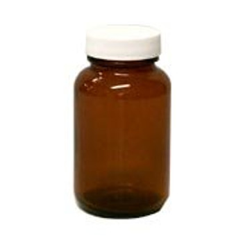 Frontier Herb Spice Jar - Amber - Round - with Cap and Label - 4 oz