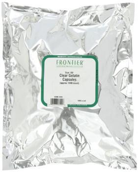 """Frontier Herb Gelatin Capsules """"OO"""" - 1000 count"""