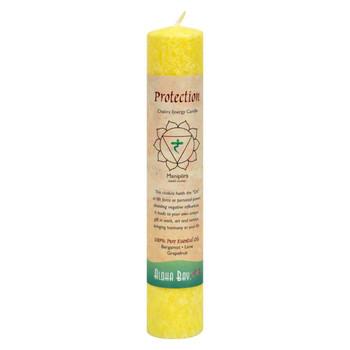 Aloha Bay - Chakra Pillar Candle Protection Yellow - 1 Candle