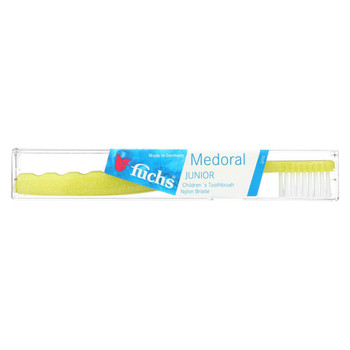 Fuchs Children's Soft Medoral Junior Nylon Bristle Toothbrush - 1 Toothbrush - Case of 10