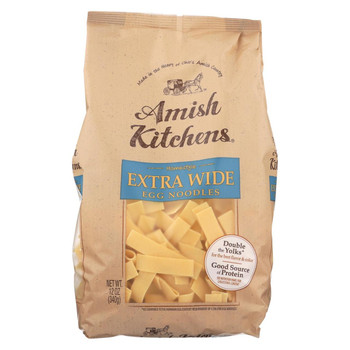 Amish Kitchen Noodles - Extra Wide - Case of 12 - 12 oz