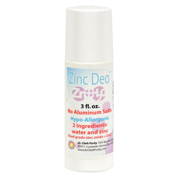 Dr. Clark's Purity Products Roll-On Zinc Deodorant - 3 oz