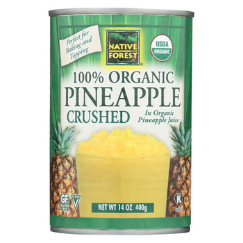 Native Forest Organic Pineapple - Crushed - Case of 6 - 14 oz.