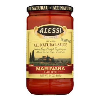 Alessi - Pasta Sauce - Smooth Marinara - Case of 6 - 24 oz