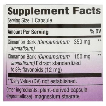 Nature's Way - Cinnamon Standardized - 60 Vcaps
