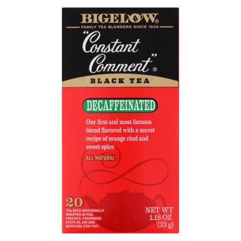 Bigelow Tea Constant Comment Decaffeinated Black Tea - Case of 6 - 20 Bags