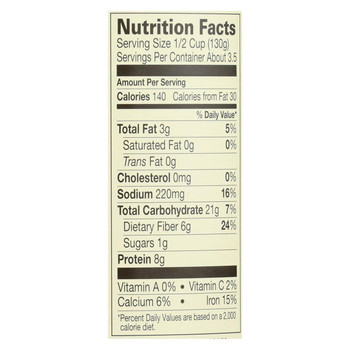 Amy's Organic Light In Sodium Refried Black Beans - Case of 12 - 15.4 oz.
