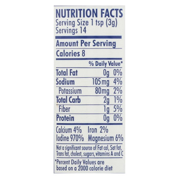 Maine Coast Organic Sea Seasonings - Kelp Granules - 1.5 oz Shaker