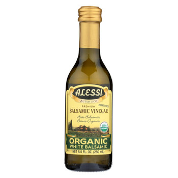 Alessi Vinegar - Organic - Balsamic - White - Case of 6 - 8.5 fl oz