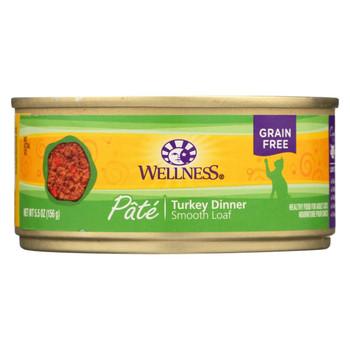 Wellness Pet Products Cat Food - Turkey Recipe - Case of 24 - 5.5 oz.
