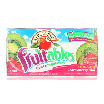 Apple and Eve Fruitables Juice Beverage - Strawberry Kiwi - Case of 5 - 200 ml