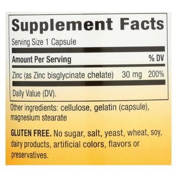 Nature's Way Zinc Chelate - 30 mg - 100 Capsules