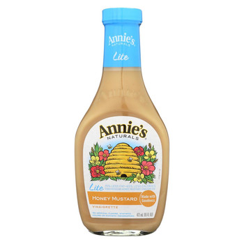 Annie's Naturals Lite Dressing Vinaigrette Honey Mustard - Case of 6 - 16 fl oz.