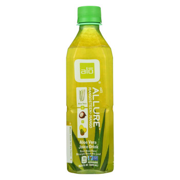 Alo Original Allure Aloe Vera Juice Drink - Mangosteen and Mango - Case of 12 - 16.9 fl oz.