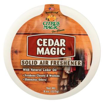 Citrus Magic Cedar Magic Solid Air Freshener - Case of 6 - 8 oz