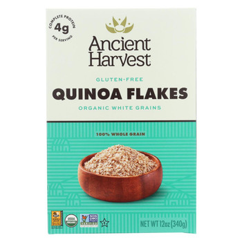 Ancient Harvest Organic Hot Cereal - Quinoa Flakes - Case of 12 - 12 oz