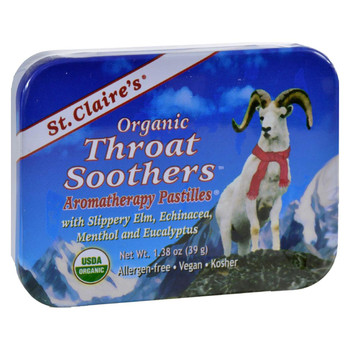 St Claire's Organic Throat Smoother Display Case - Case of 6 - 1.38 oz