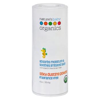 Nature's Baby Organics Dusting Powder - Organic - Silky - Fragrance Free - 4 oz