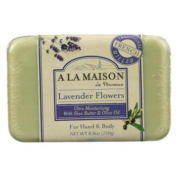 A La Maison Bar Soap - Lavender Flowers - 8.8 oz