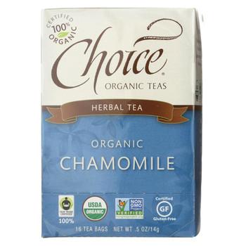 Choice Organic Teas Chamomile Herb Tea - 20 Tea Bags - Case of 6