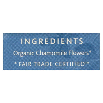 Choice Organic Teas Chamomile Herb Tea - 20 Tea Bags - Case of 6