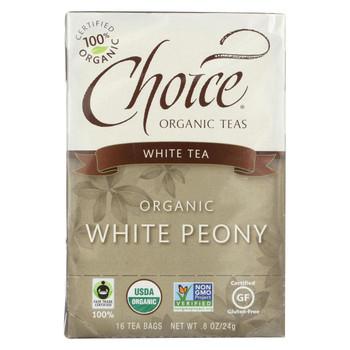 Choice Organic Teas White Tea - 16 Tea Bags - Case of 6