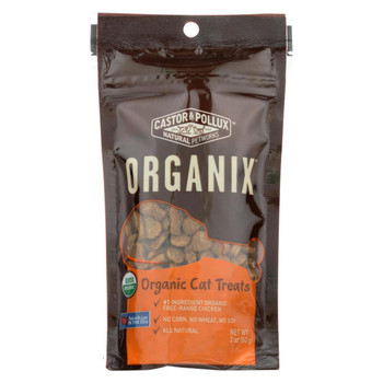 Castor and Pollux Organic Cat Treats - Chicken - Case of 12 - 2 oz.