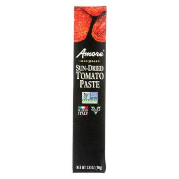 Amore Sun Dried Tomato Paste Tube - Case of 12 - 2.8 oz