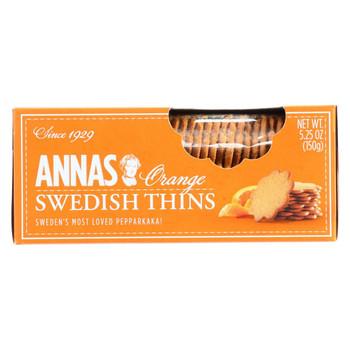 Annas Pepparkakor - Original - Orange Thins - 5.25 oz - case of 12