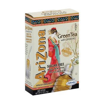 Arizona Tea Sugar Free Green Tea Powder Stick - Case of 12 - 10 count