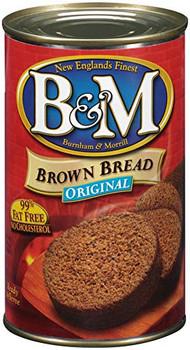 Bandm Plain Brown Bread - Can - Case of 12 - 16 oz