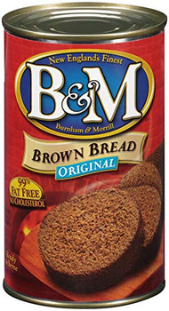 Bandm Plain Brown Bread - Can - Case of 12 - 16 oz
